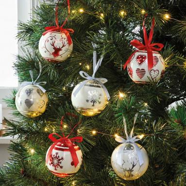 Boules de Noël - les 6