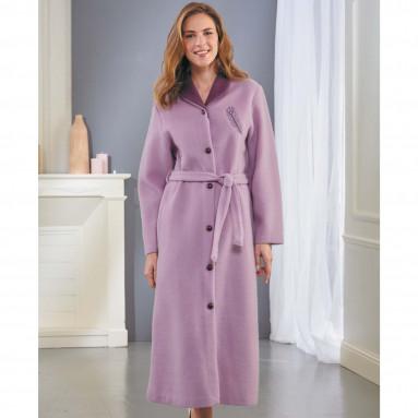 Robe de chambre Courtelle® lilas