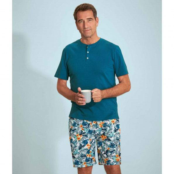 Pyjashort Bleu Lagon