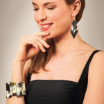 Bracelet manchette corne