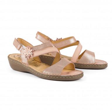Sandales fleur «réflexologie»