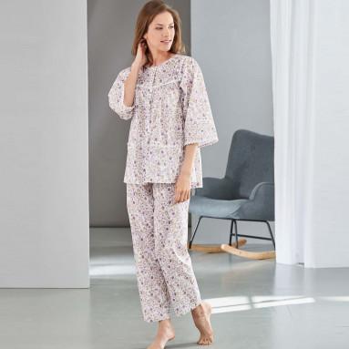 Pyjama Fleuri Lilas