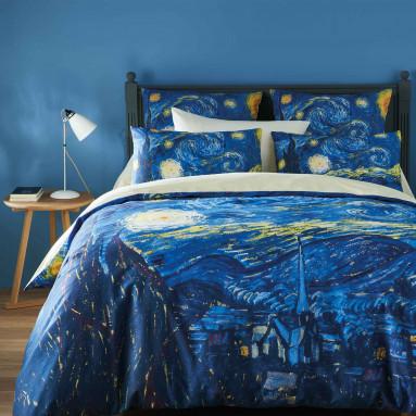 taie d 39 oreiller van gogh. Black Bedroom Furniture Sets. Home Design Ideas