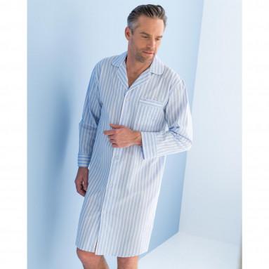 Chemise de nuit coton rayé